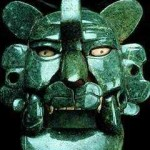 Zapotec Jade mask of the bat (or jaguar). 200BC-100AD. Excavated in Monte Alban