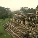 View of El Palacio (The Palace). Palenque