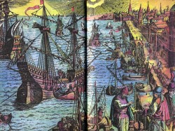 View of Lisbon. Lisbon was the chief centre of ocean voyages and new discoveries, the birthplace of new ships. It was the Rome of sea souls, the higher school of navigation sciences