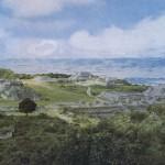 Monte Alban, der heilige Berg der Zapoteken, wie er sich dem heutigen Beschauer zeigt. Die ersten Spuren von Bautätigkeit liegen etwa zwischen dem 6. und 4. Jahrhundert v. d. Z. Bis zum 11. Jahrhundert wurde die Stätte erweitert und ständig von den Zapoteken umgebaut. Zwischen dem 11. und 13. Jahrhundert diente sie als Begräbnisplatz für hohe mixtekische Würdenträger. Monte Alban, Oaxaca